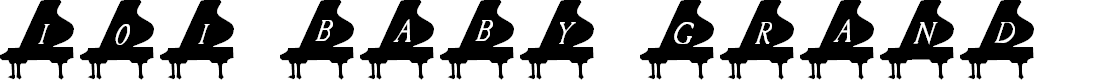 Preview image for 101! Baby Grand Font
