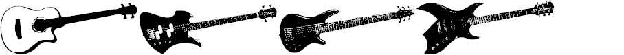 Preview image for Screaming Guitar Font