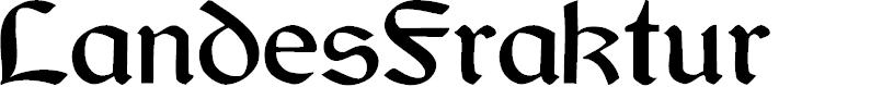 Preview image for LandesFraktur Font