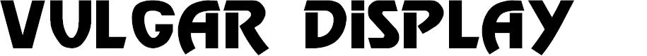 Preview image for Vulgar Display Regular Font
