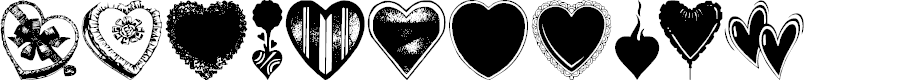 Preview image for Hearts Galore Font