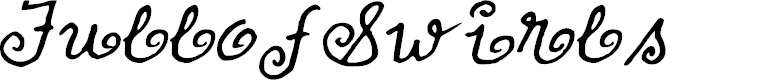 Preview image for FullofSwirls Font