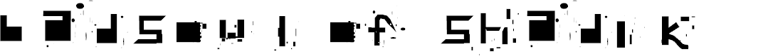 Preview image for badsoul of shadik Font