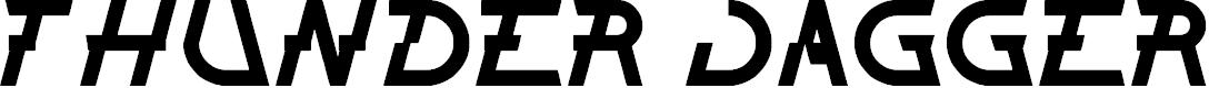 Preview image for THUNDER JAGGER Font