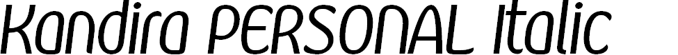Preview image for Kandira PERSONAL Italic