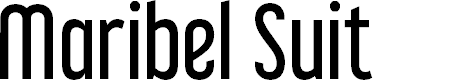 Preview image for Maribel Suit Font