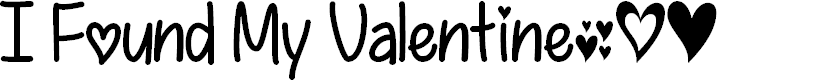 Preview image for I Found My Valentine Font
