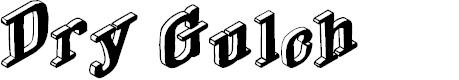 Preview image for DryGulchBlack Font