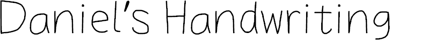 Preview image for Daniel's Handwriting Font
