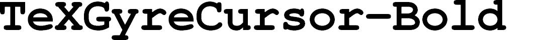 Preview image for TeXGyreCursor-Bold