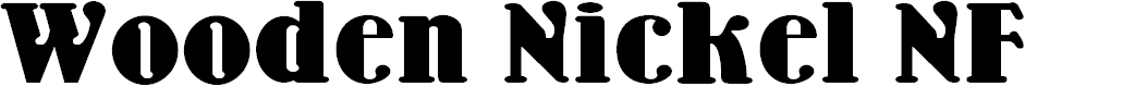 Preview image for Wooden Nickel NF Font