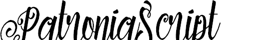 Preview image for PatroniaScript Font