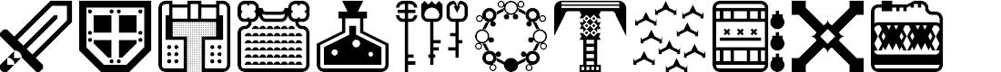 Preview image for Donjonikons Regular Font