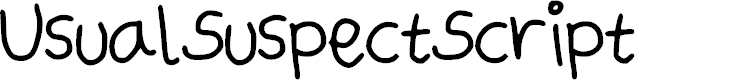 Preview image for UsualSuspectScript Font