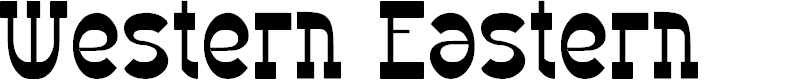 Preview image for Western Eastern Font