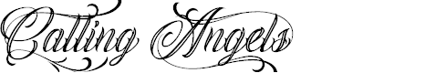 Preview image for Calling Angels Personal Use Font