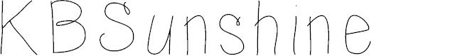 Preview image for KBSunshine Font