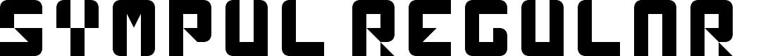 Preview image for sympul Regular Font