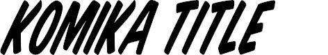 Preview image for Komika Title - Tilt