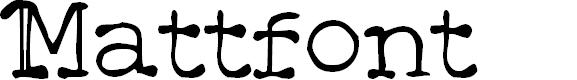 Preview image for Mattfont  Oblique Font