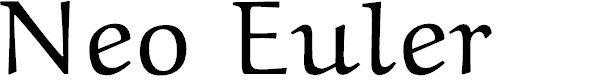Preview image for Neo Euler Font