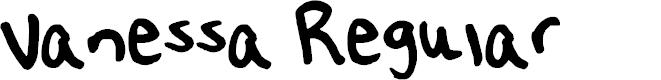 Preview image for Vanessa Regular Font