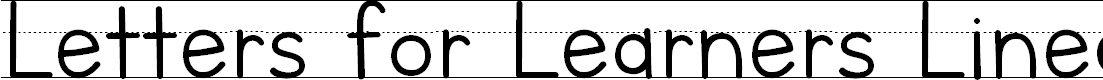 Preview image for Letters for Learners Lined