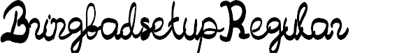 Preview image for Bringbadsetup-Regular Font