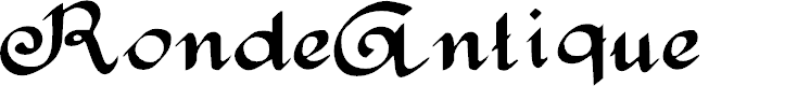 Preview image for RondeAntique Font