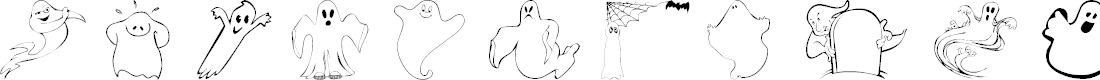 Preview image for 101! A Ghostly Font