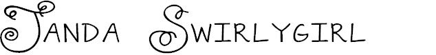 Preview image for Janda Swirlygirl Font
