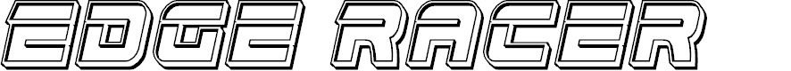 Preview image for Edge Racer Engraved Italic
