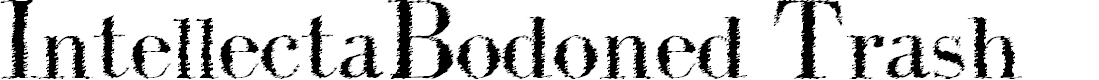 Preview image for IntellectaBodoned Trash Font