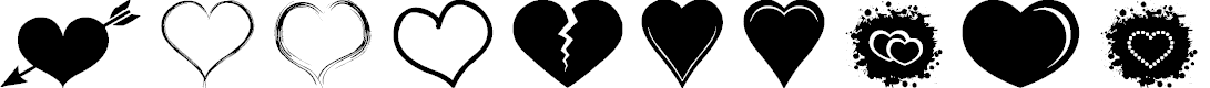Preview image for Sexy Love Hearts 2 Font