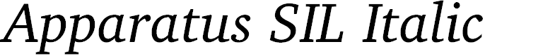 Preview image for Apparatus SIL Italic