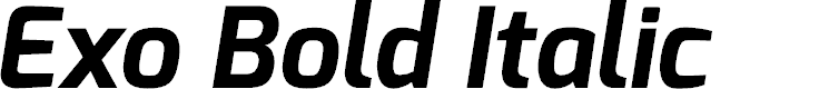 Preview image for Exo Bold Italic