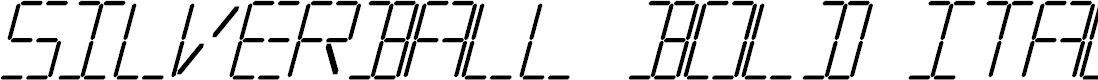Preview image for Silverball Bold Italic