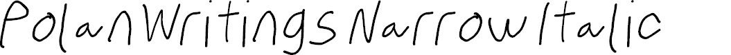 Preview image for PolanWritings Narrow Italic