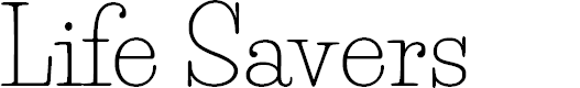 Preview image for Life Savers Font