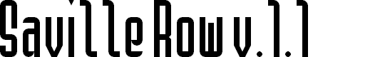 Preview image for Saville Row NBP Font