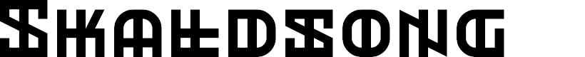 Preview image for Skaldsong Regular Font
