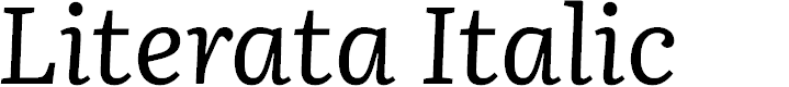 Preview image for Literata Italic