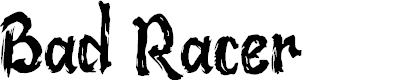 Preview image for Bad Racer Font