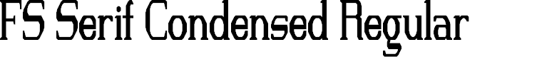Preview image for FS Serif Condensed Regular Font