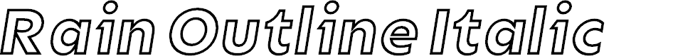 Preview image for Rain Outline Italic