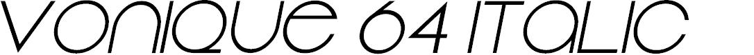 Preview image for Vonique 64 Italic