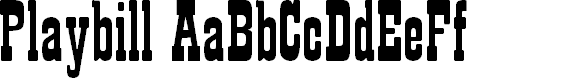 Preview image for Playbill Regular Font