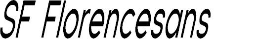 Preview image for SF Florencesans Comp Italic