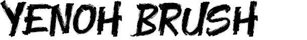 Preview image for Yenoh Brush Font