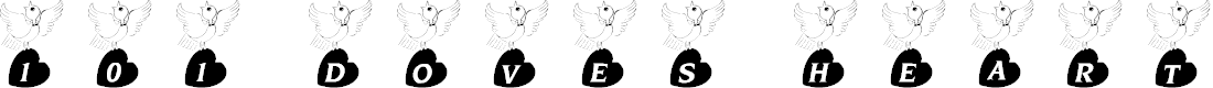 Preview image for 101! Doves Heart Font